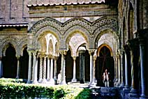 12thcentury cathedral cloister at Monreale